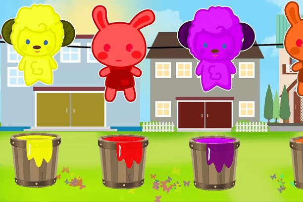 Uwolnij kolory – nauka angielskiego z owieczką i króliczkiem