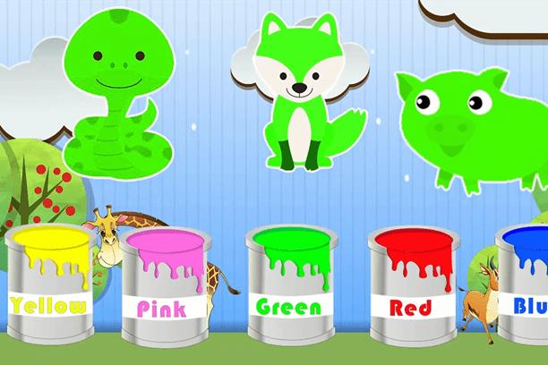 Nauka kolorów po angielsku zabawy