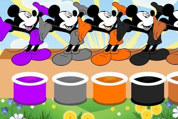 Klub przyjaciół myszki miki uczy kolorów po angielsku