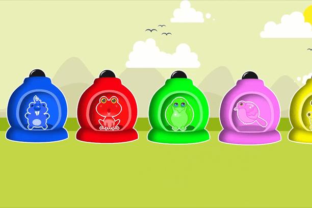 Nauka kolorów dla dzieci kulki bajki dla najmłodszych
