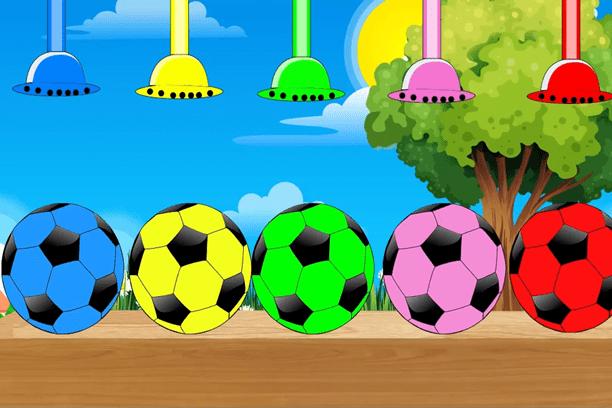 Piłki dla dzieci uczą kolorów po angielsku